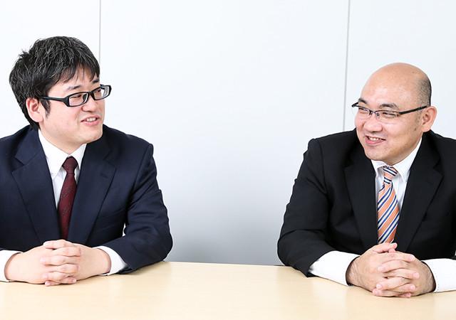 田中宏幸と部下の諏訪紀之の写真